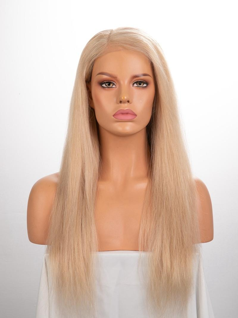 "20"" 130% Custom Color Silky Straight Human Hair HD Full Lace Wig With Custom Cap Size"