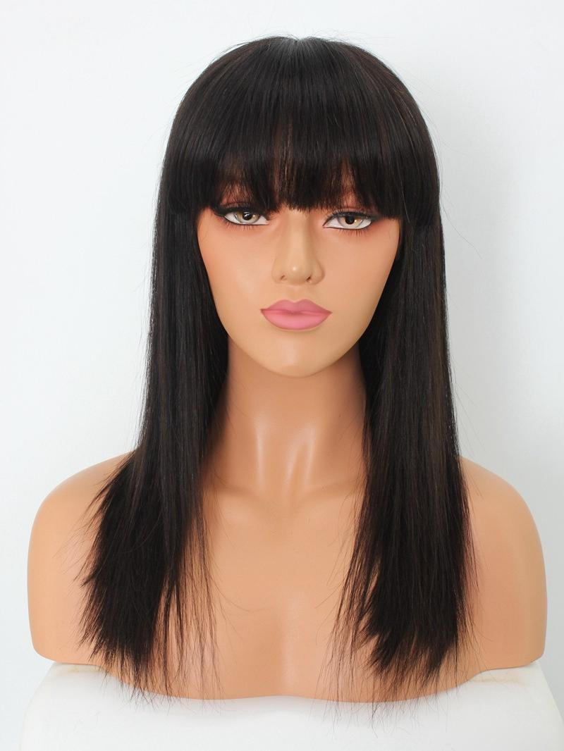 "EvaWigs Special Offer - 10""-24"" Silky/Yaki Straight 4"" Parting Glueless Lace Wig"