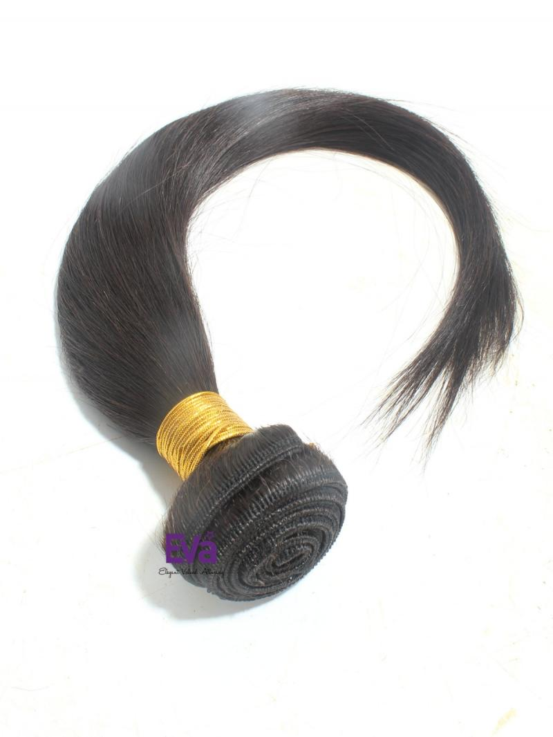 "Natural Black 16"" Silky Straight 100% Human Hair Weave"