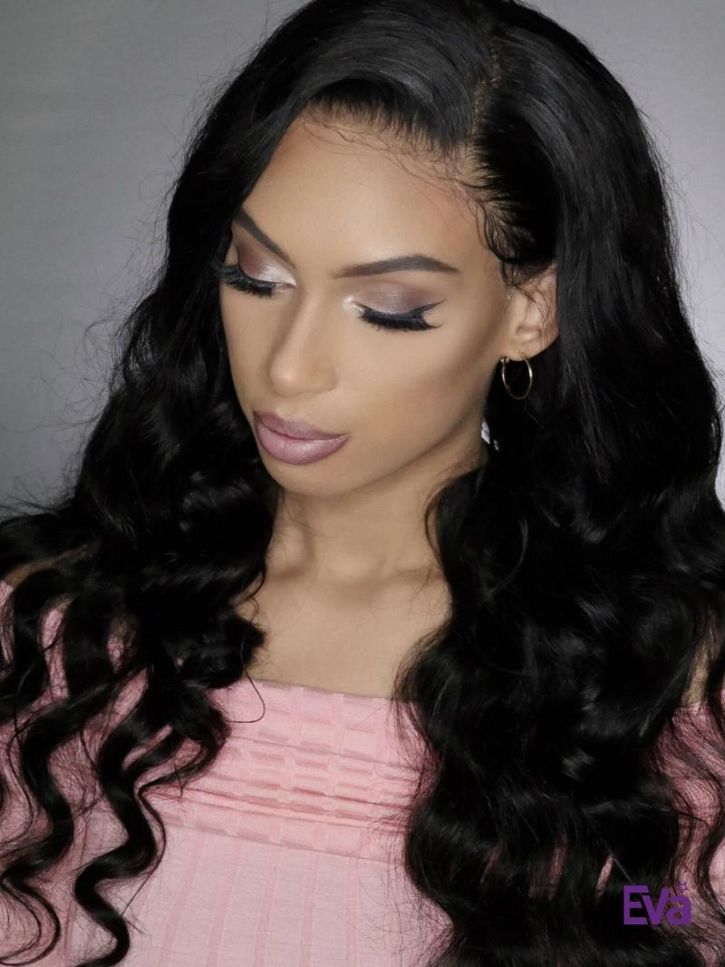 "10""-24"" Long Wavy 360 Lace Cap Full Lace Wig"