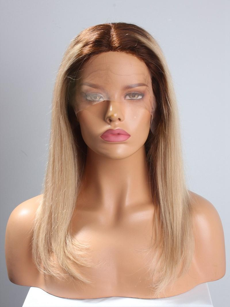 New In 8'-22' Blonde Color T Cap Construction Wig