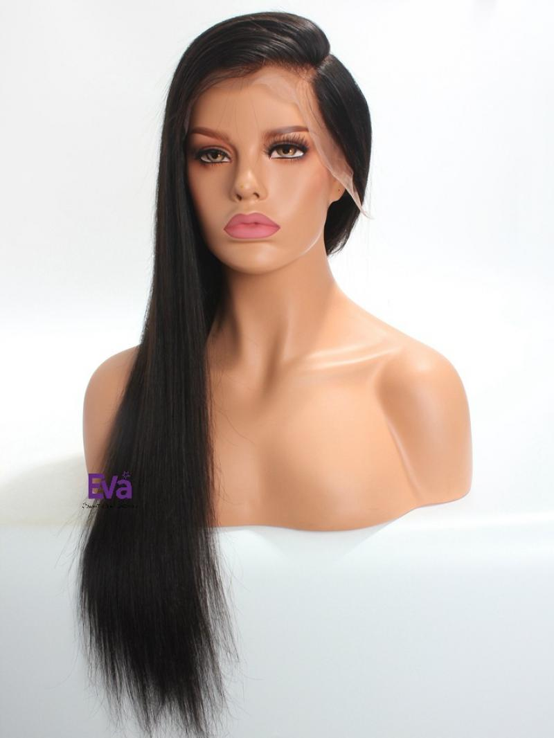 "Special Offer - Custom 13"" * 6"" Lace Front 6"" * 6"" Free Parting Area Human Hair Wig Custom Length from 16"" to 24"""