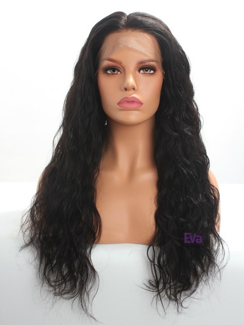 "Custom 6"" Deep Parting Fashion Wavy Human Hair Lace Front Wig 16""-24"" Available"
