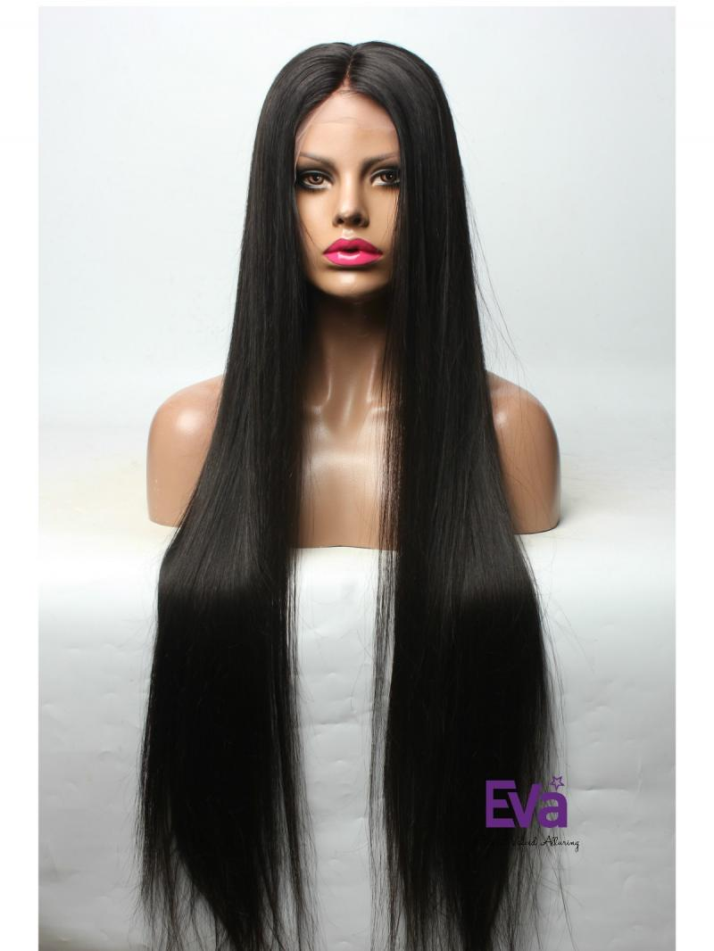 Custom 26 inches - 30 inches Hair Length Celebrities' Favorite Style Silky Straight Full Lace Human Hair Wig