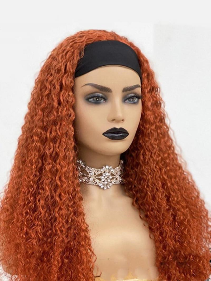 """NEW ARRIVAL 8""""-22"""" SPECIAL COLOR CURLY MACHINE MADE HEADBAND WIG"""