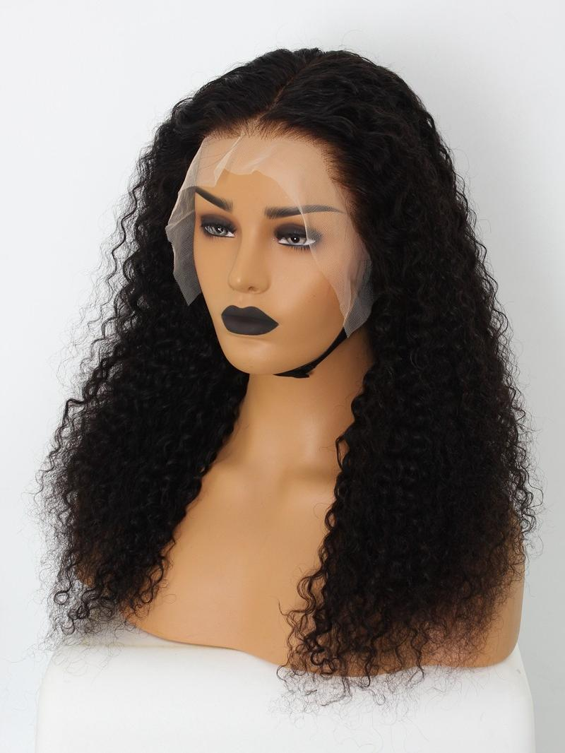 """Stocked Fake Scalp 20"""" Natural Curly 13*6 Glueless Lace Front Wig"""