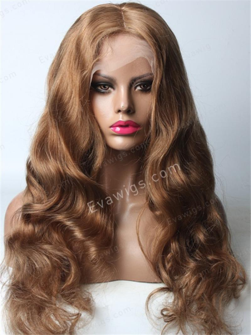 "24"" Long Big Wave Color #9 Virgin Hair Fashion Style Full Lace Wig"