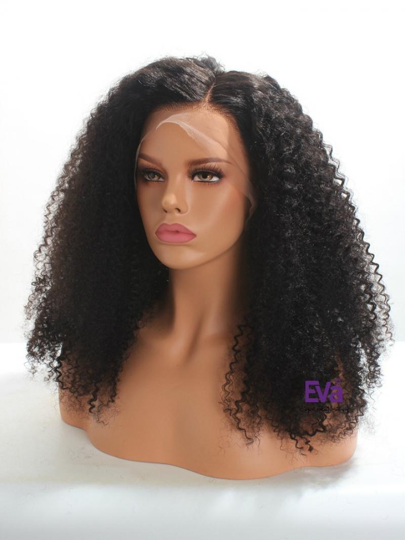 Best Seller and Ready to Ship Natural Curly Full Lace Human Hair Wig