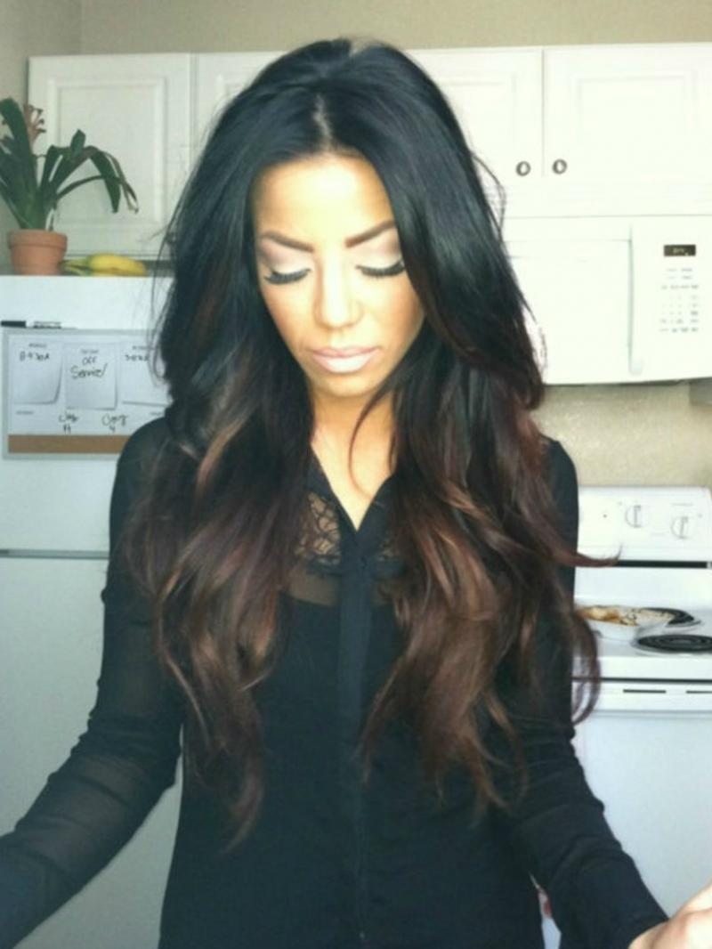 "16""-26"" Best Seller Long Wavy Brown Ombre Full Lace Virgin Human Hair Wig Custom Color Available"
