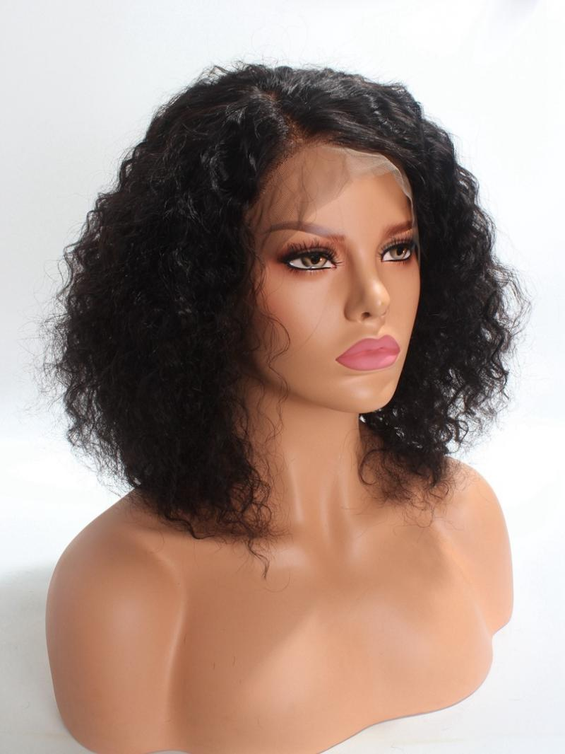 Medium Curly 360 Lace Remy Human Hair Wig