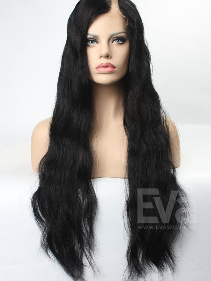 100% Brazilian Vigin Human Hair Natural Wavy U-part Glueless Full Lace Wig