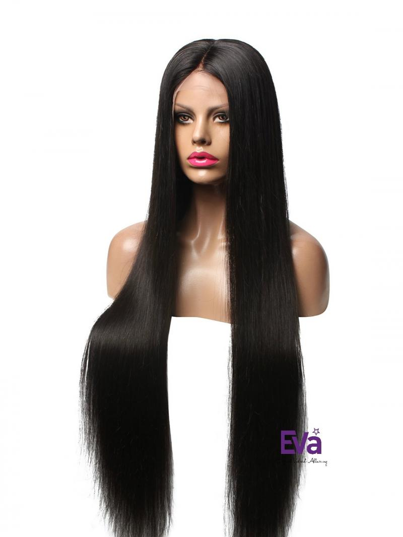 Custom 26 Inches 30 Inches Hair Length Celebrities Favorite Style Silky Straight Full Lace Human Hair Wig Human Hair Wigs Evawigs