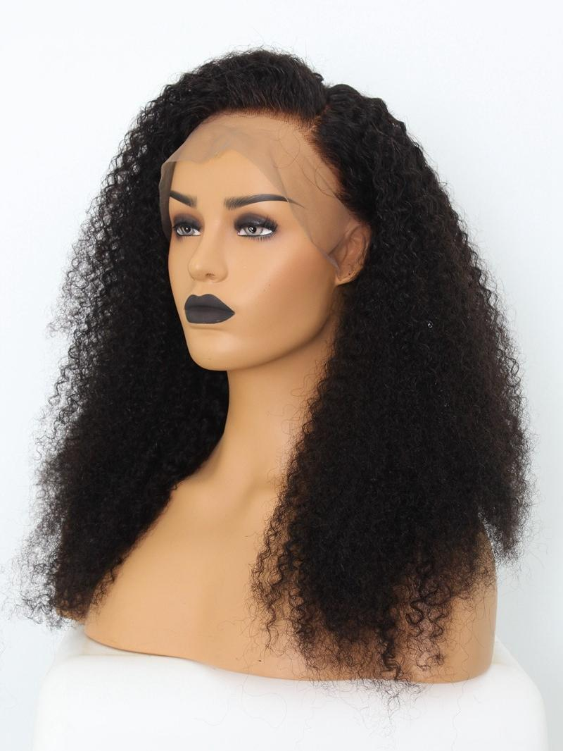 EvaWigs Special Offer - Kinky Curly Lace Front Wig with Bleached Knots and Pre-plucked Hairline