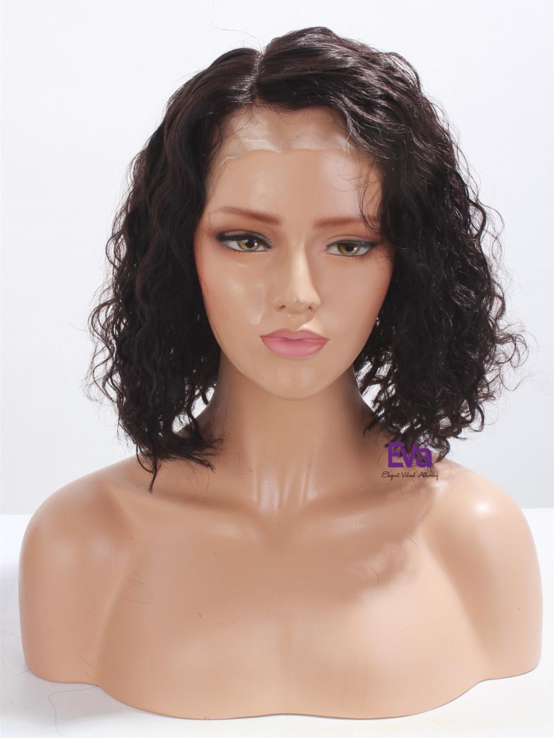 Cute Side Parting Curly Bob Virgin Human Hair