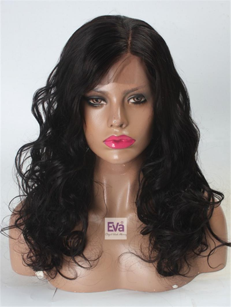 "20"" Long Loose Wavy Indian Remy Hair Lace Front Wig"