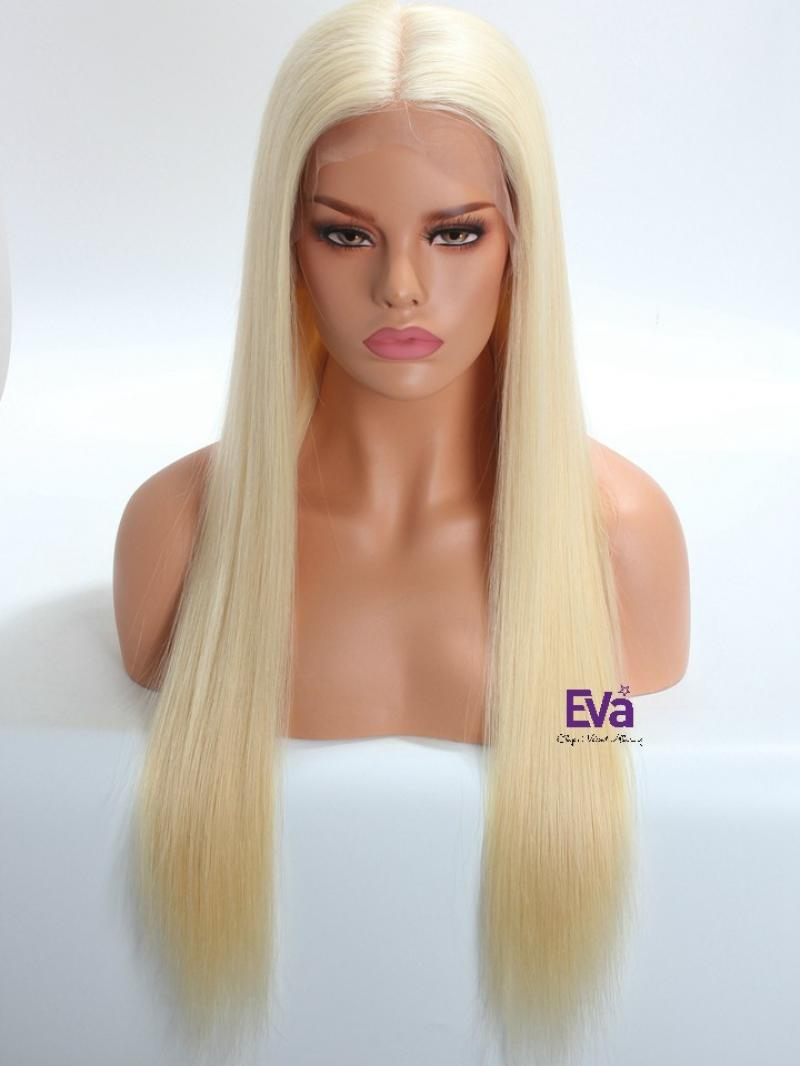 "Special Offer - 6"" * 6"" Free Parting Area Lace Front Blonde Virgin Human Hair Wig 18"" - 26"" Long Available"