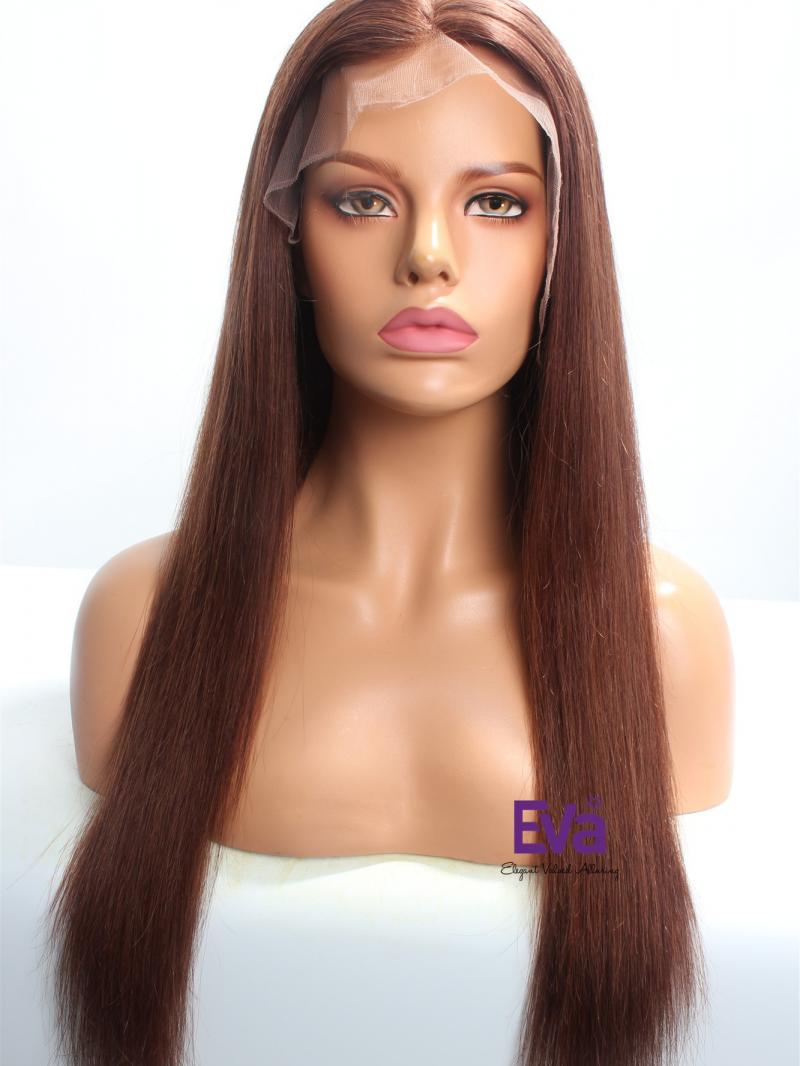 "20"" Length #33- Dark Auburn Straight Lace Front Wig"