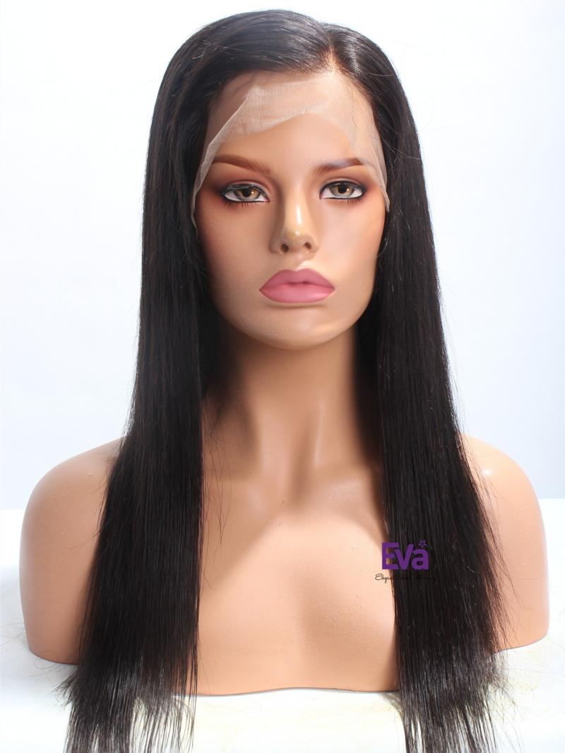 """Soft & Silky Straight 16"""" Long Indian Remy Hair Full Lace Wig"""