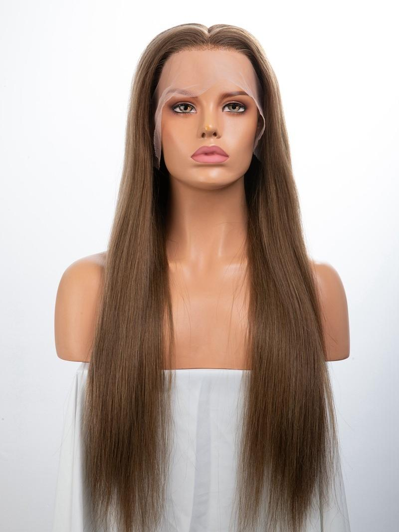 """24"""" CUSTOMIZED COLOR SILKY STRAIGHT FULL LACR WIG WITH CUSTOMIZED CAP SIZE"""