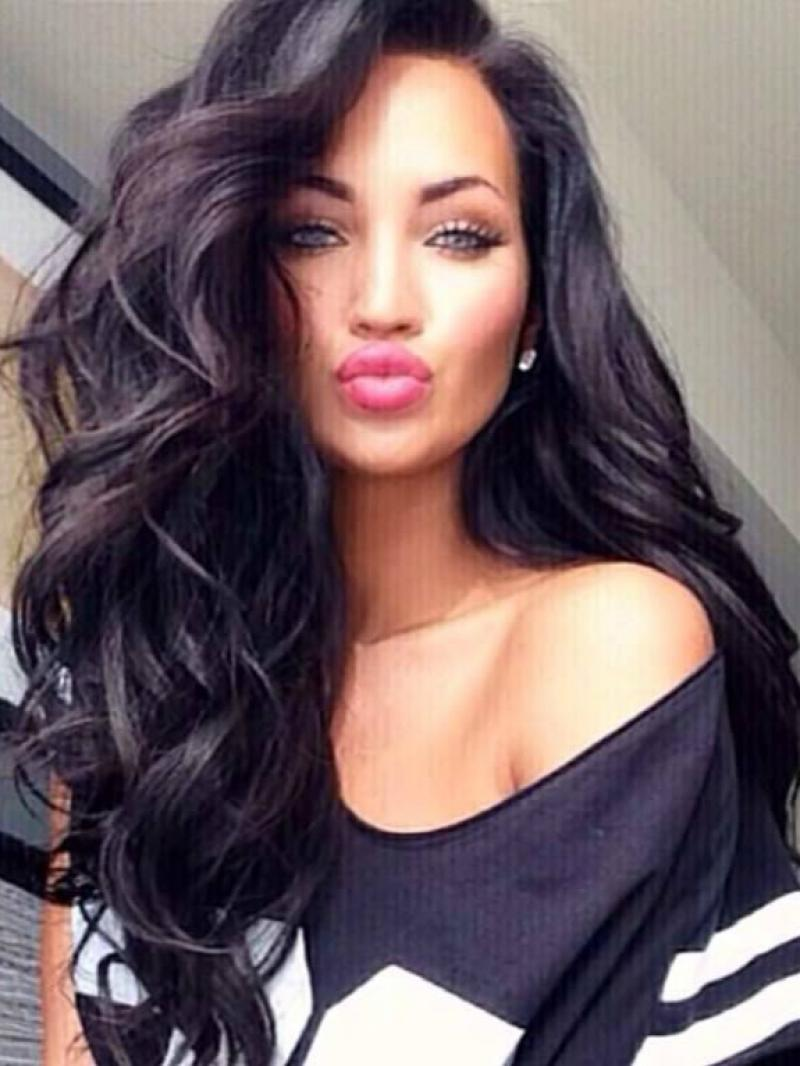 "Natalie Halcro Inspired 16"" - 26"" Big Wave Long Hair Fashion Style Full Lace Human Hair Wig CEW0319"